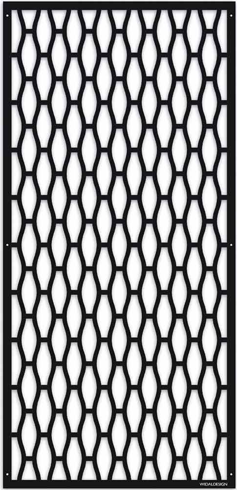 Insynsskydd Dekorskärm skärmvägg i metall Pergolatak laserskuret mönster Geometri WidalDesign