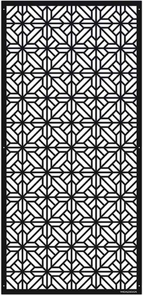 Insynsskydd Dekorskärm skärmvägg i metall Pergolatak laserskuret mönster Orientalisk WidalDesign