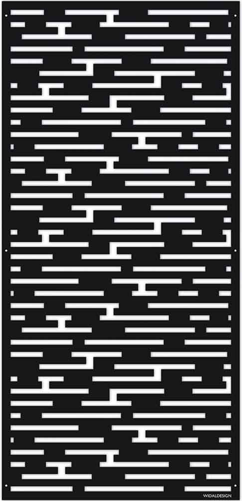 Insynsskydd Dekorskärm skärmvägg i metall Pergolatak laserskuret mönster Block WidalDesign