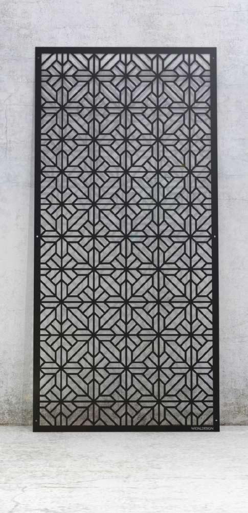 Laserskuren design i metall med monster Orientalisk WidalDesign