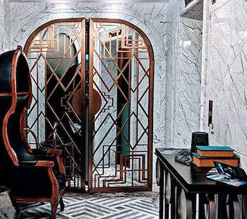 Laserskuren metall designad lösning mönster inspiration WidalDesign Pinterest restaurangkoncept inredning designkoncept_
