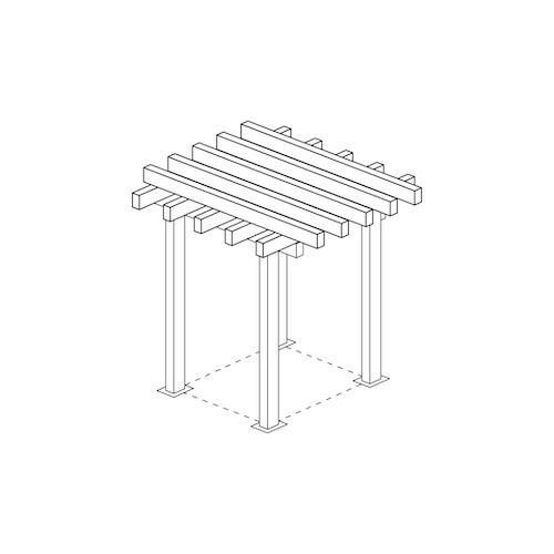 Skiss pergola pergolatak i metall storlek 3m x 3m 3x3 altantak pergolatak pergolapaneler i metallWidalDesign