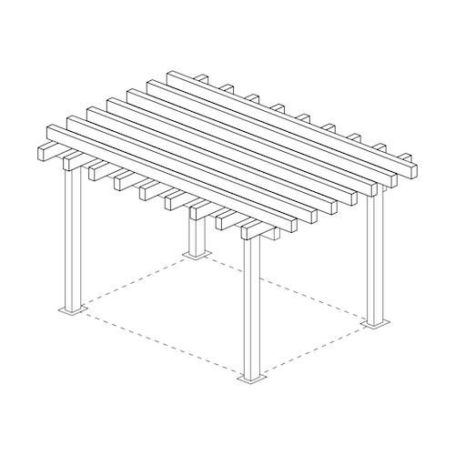 Skiss pergola pergolatak i metall storlek 9m x 9m 9x9 altantak pergolatak pergolapaneler i metallWidalDesign