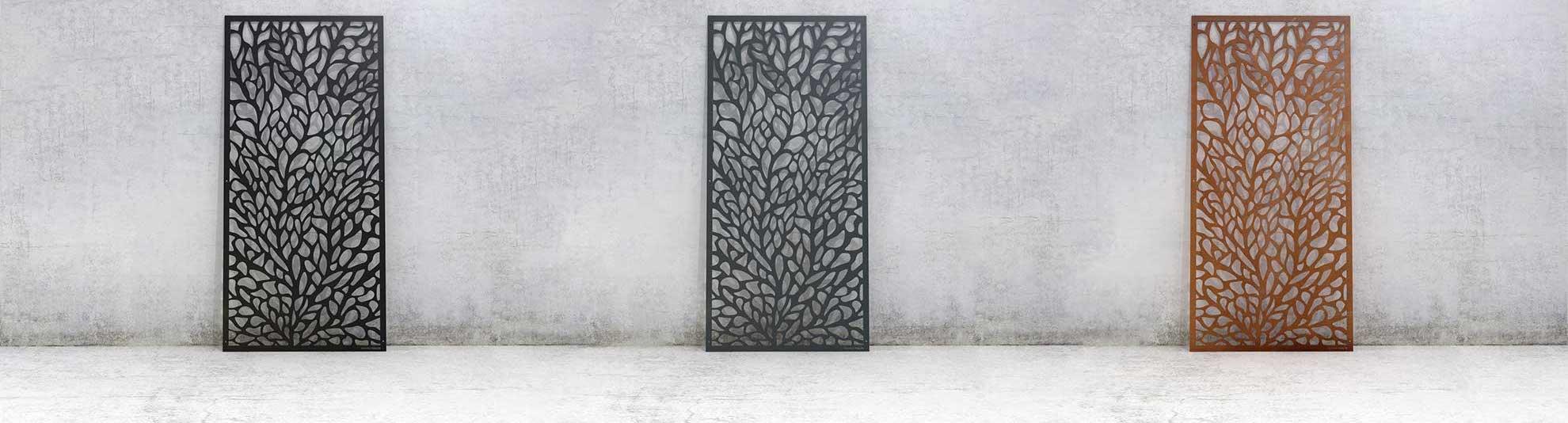Insynsskydd skärmväggar pergolatak dekorvägg i metall WidalDesign