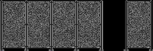 Skärmar skärmväggar insynsskydd i metall WidalDesign Stående Stolpar med tillbehör
