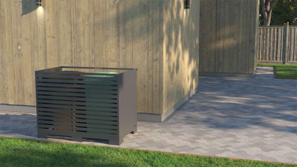 Soptunneskydd i metall laserskuret duo3-vägg Antikgrå Mönster Ränder