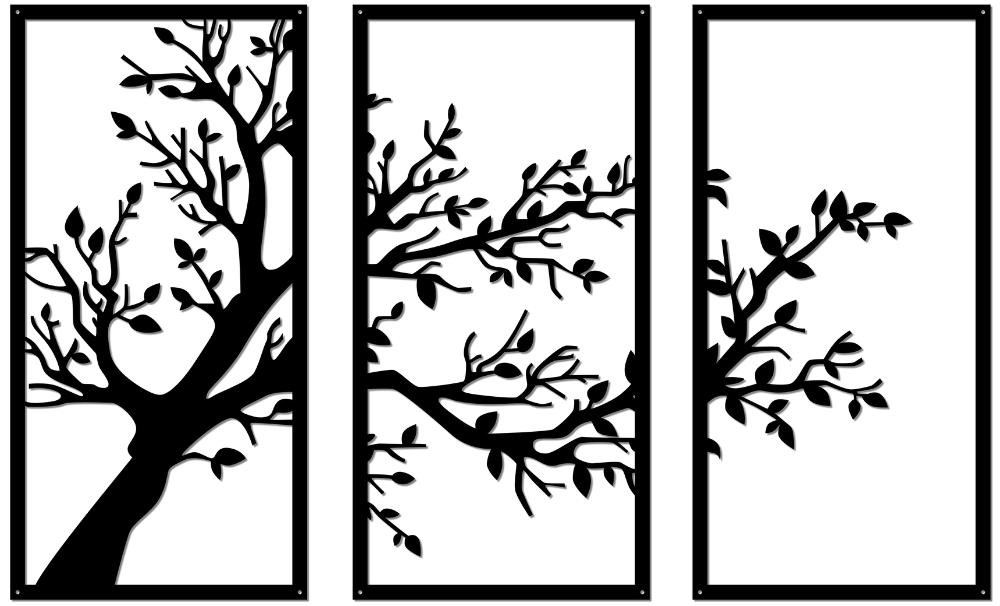 16 Träd i 3 delar