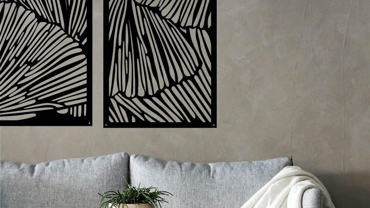 Dekorskärm Vingar Widal_Design Laserskuren design konst